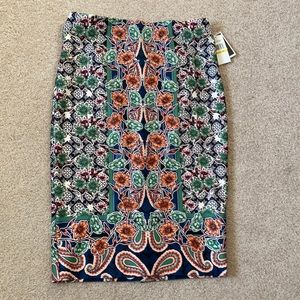 NWT Medium Paisley Floral Midi Pencil Skirt